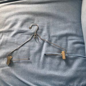 9 metal hangers with clips - gently used